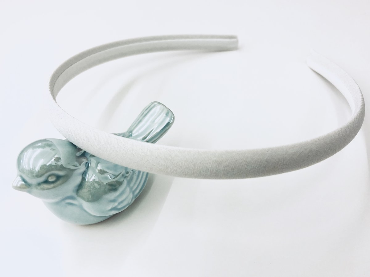 Satin Covered White Headband