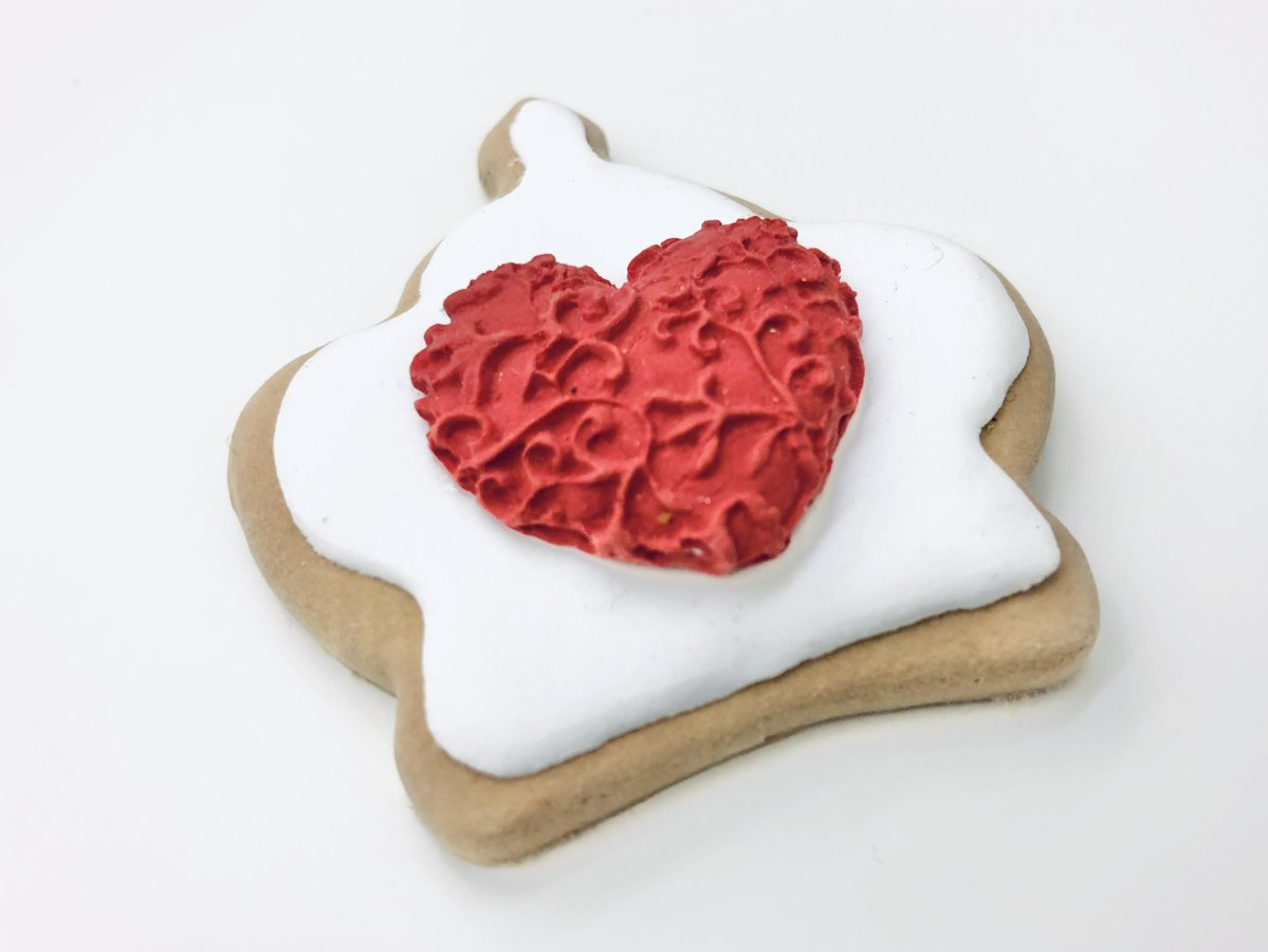 Lace 3D Heart Mold