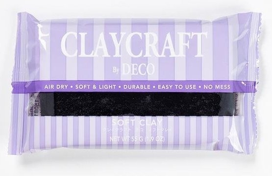 Black - CLAYCRAFT™ by DECO® Soft Clay