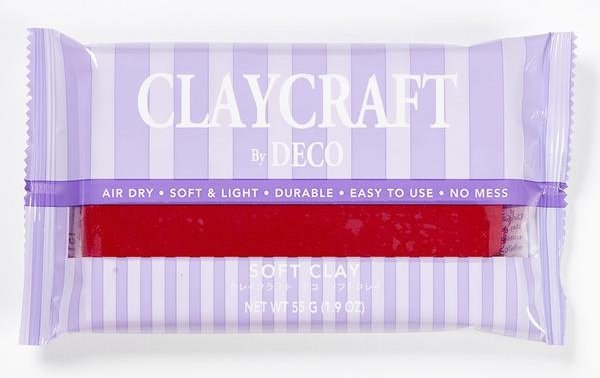 Глина CLAYCRAFT by DECO© (цвет - красный)
