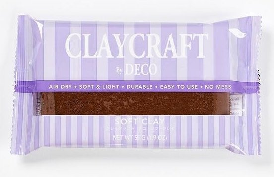 Глина CLAYCRAFT by DECO© (цвет - коричневый)